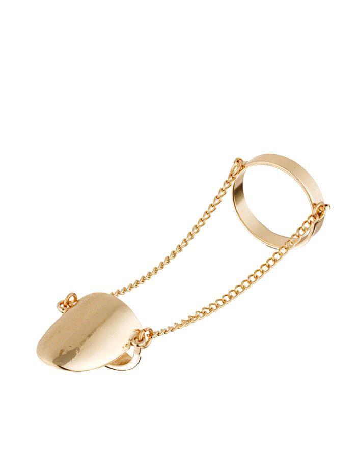 ¡Señala con el dedo! Los anillos midi son el accesorio must Anillo doble con cadena de Asos.com