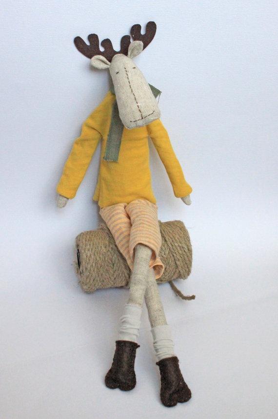 Tilda reindeer toy - ready to ship