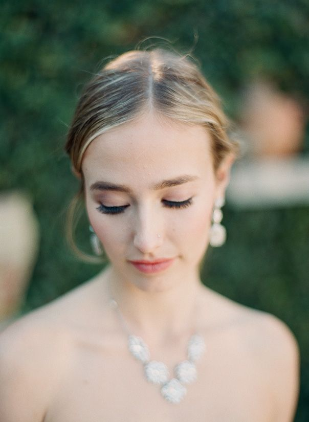 Nadia Hung Photography, bridal portrait, santa barbara wedding, Monique Lhuillier, fine art wedding, wedding film photography, blue wedding,