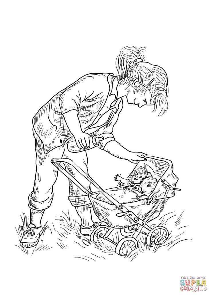 Fern Pushes Wilber In Her Baby Stroller