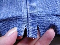 Tutorial - Hemming Jeans - a quilters technique. Clever trick for bulky seams.