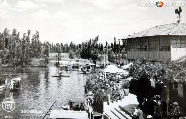Embarcadero de Xochimilco Hacia 1930-1950