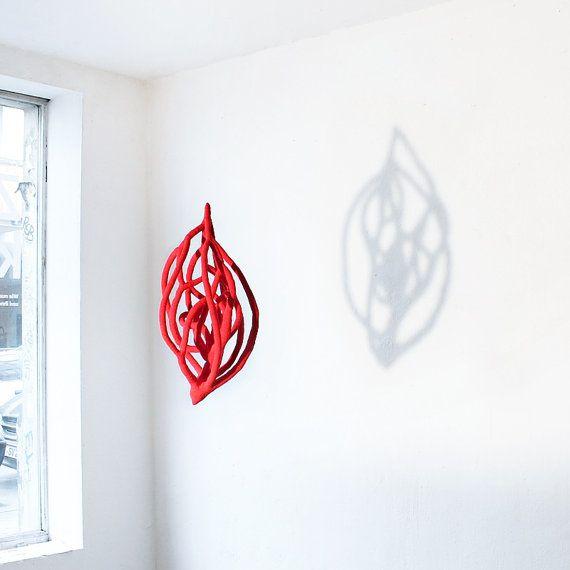 Big crochet sculpture  Red heart от ulani на Etsy