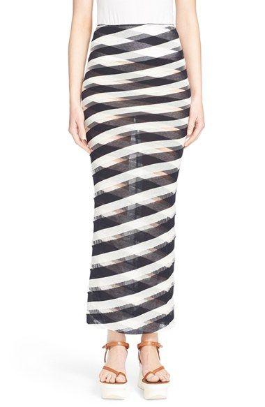 STELLA MCCARTNEY Stripe Knit Cotton Maxi Skirt. #stellamccartney #cloth #