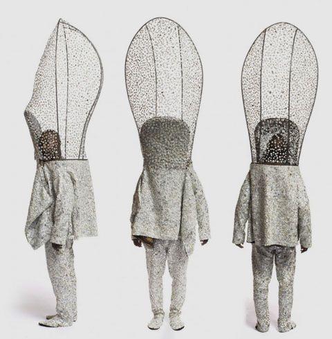 Nick Cave - sound suits  http://www.jackshainman.com/artist-images9.html