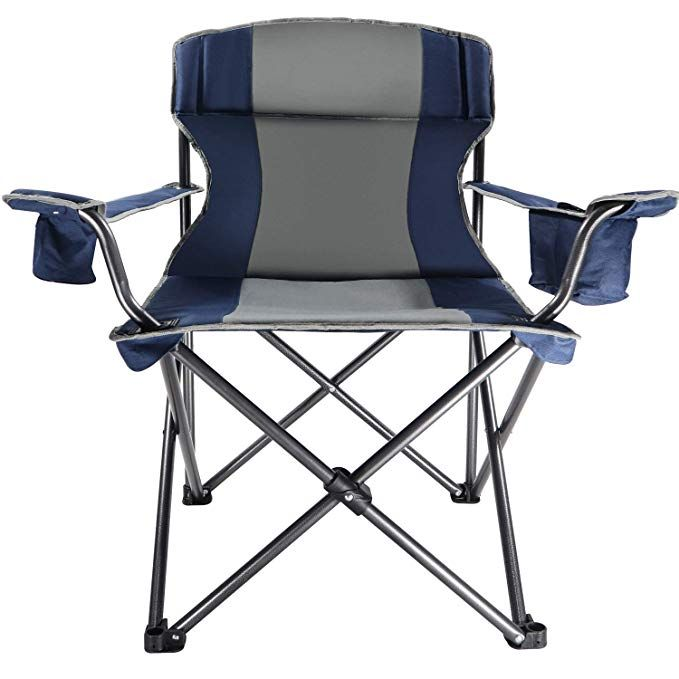 Lch Folding Chair Heavy Duty Portable Camping Chair Steel Director S Chairs Support 350 Lbs Cooler Bag And Cu Portable Camping Chair Camping Chair Steel Chair