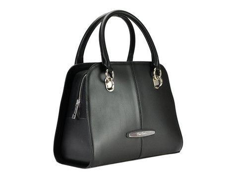 Balck Pierre Cardin genuine leather satchel | SoLime