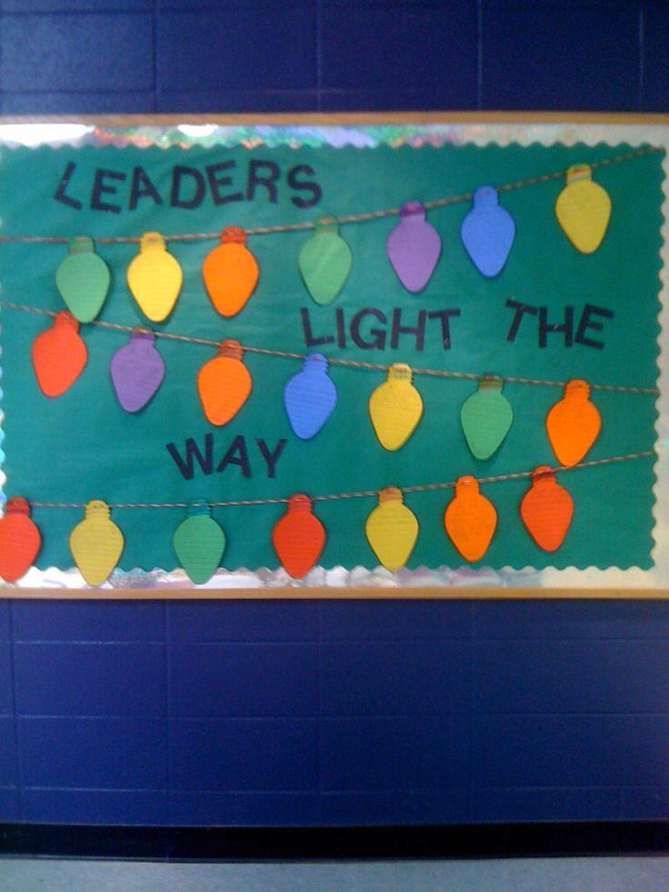 Leader in Me/7 Habits board December. Students wrote about one of the habits they use.