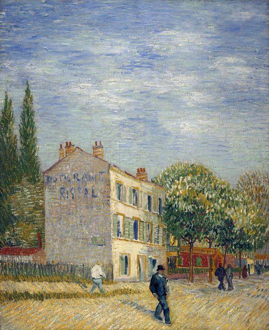 Van Gogh, Le restaurant Rispal à Asnières, 1887. Coll. Marion et Henry Bloch - Kansas City, Nelson-Atkins Museum of Art.