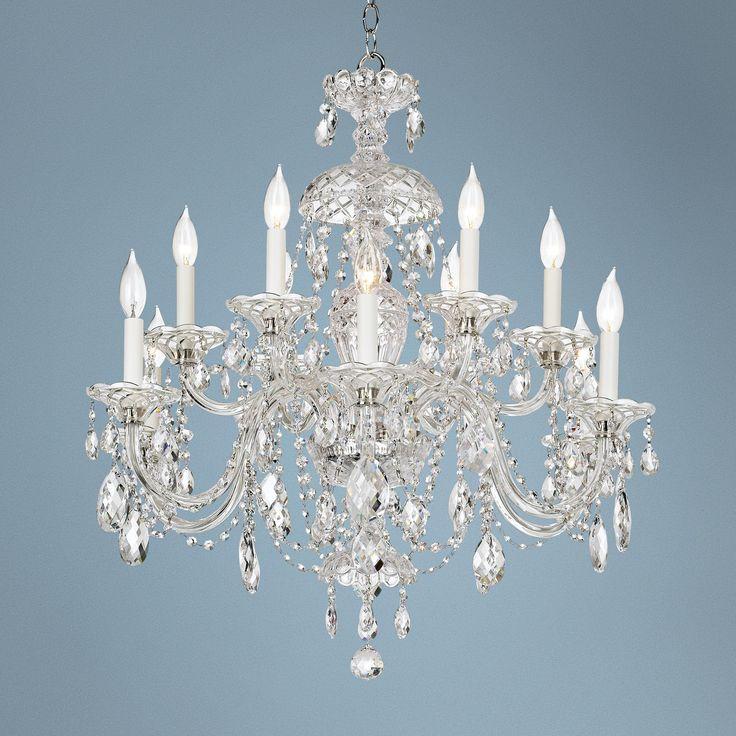 Schonbek Sterling Collection 12-Light Crystal Chandelier