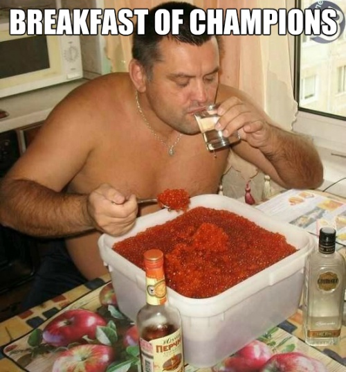 A Champions Breakfast Meme | Slapcaption.com