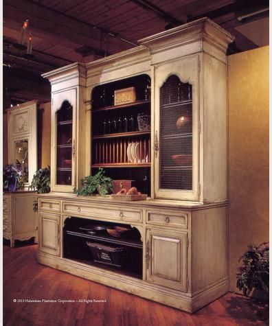 shop for habersham plantation corporation french cupboard with screen and plate rack 9 feet and other dining room cabinets at elite interiors in myrtle