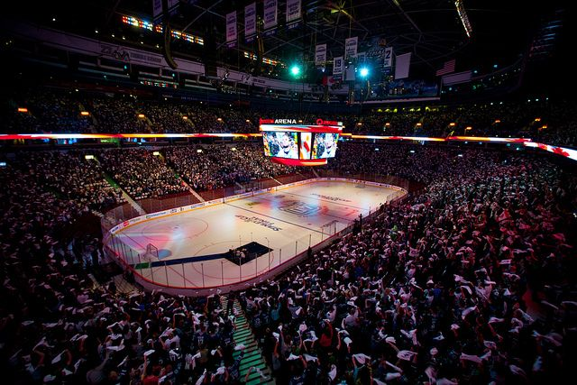 Inside Rogers Arena, home to Vancouver Canucks