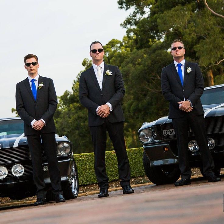 Dave Masing and the boys with Two of our Shelby GT500 Eleanor Wedding Cars