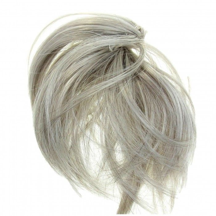 Hair Extension Scrunchie Up Do Down Do Spiky Twister (Silver Grey Mix)