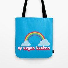 vegan techno lovers unite bag vegán vászontáska