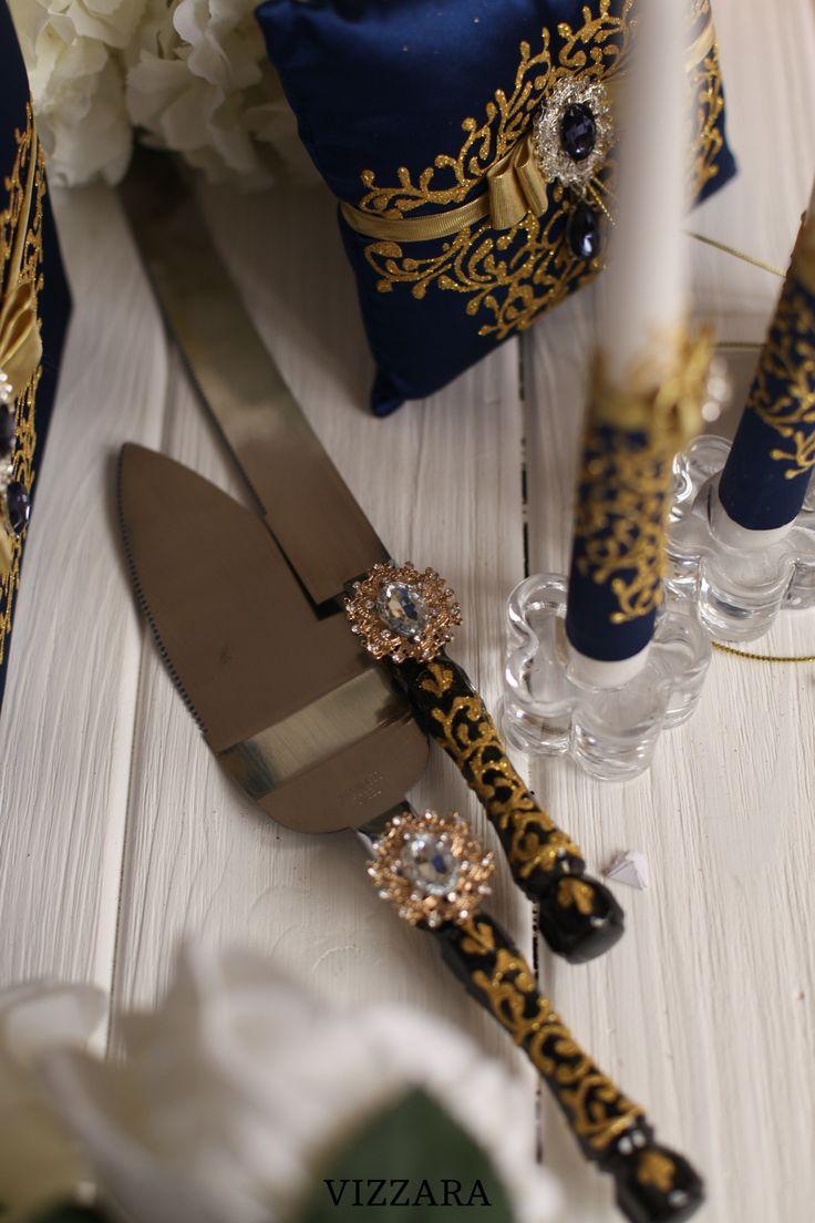 16++ Wedding knife set gold information