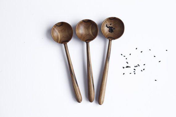 SALE! Walnut spoon Wooden spoon Serving utensil Wooden spoon for eating Kitchen…