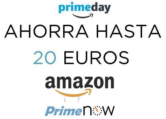 ¡Prime Now! Ahorra hasta 20 euros con código promocional.