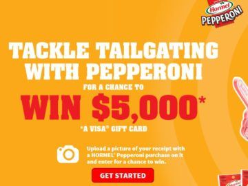HORMEL Pepperoni Tailgating Sweepstakes – Receipt Upload Reqd