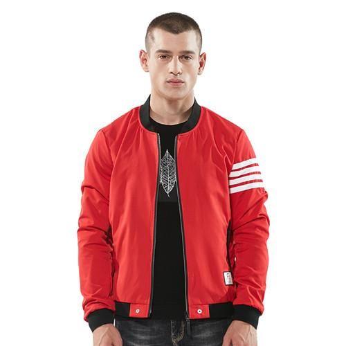 BOYUAN Brand Spring Men's Jackets Fashion Baseball Striped Long Sleeve Male Coats Outerwear New Casual Wind Breaker DSW34B