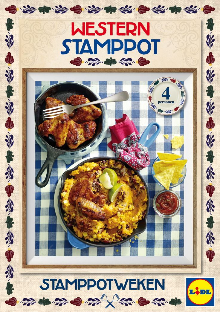 Een bijzonder recept voor western #stamppot met kippenvleugels, maïs en tortilla chips! #Lidl