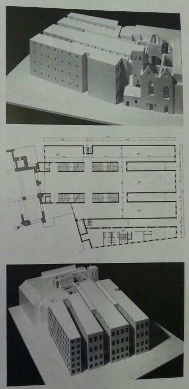 Museo a Colonia, GIORGIO GRASSI, 1996, piano tipo e plastico #museum