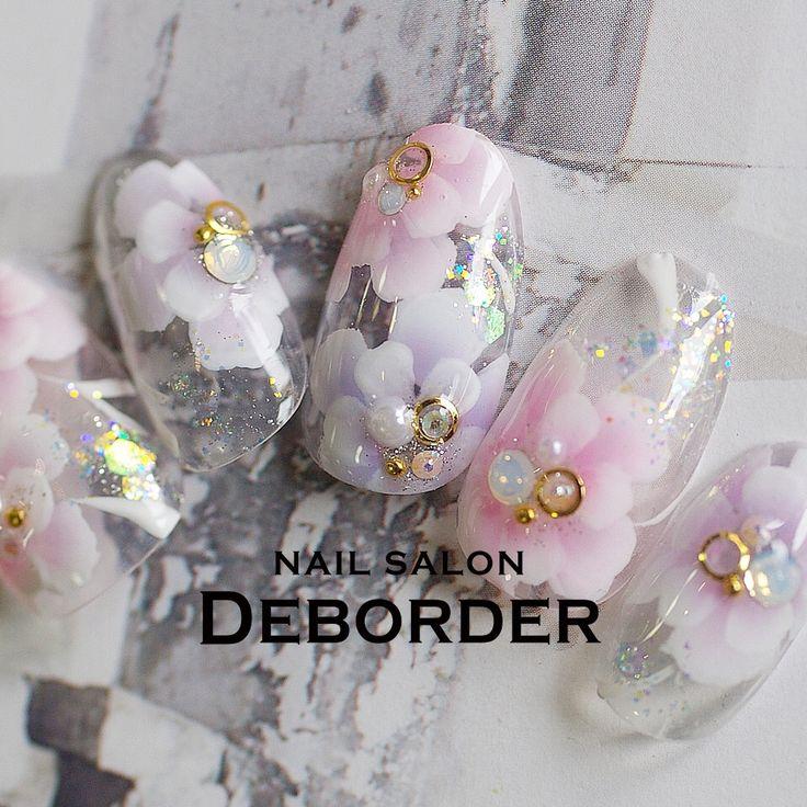 ネイル(No.1613353) フラワー  春  パープル  ピンク  ブライダル  ジェルネイル  ハンド  ミディアム  チップ   かわいいネイルのデザインを探すならネイルブック!流行のデザインが丸わかり!