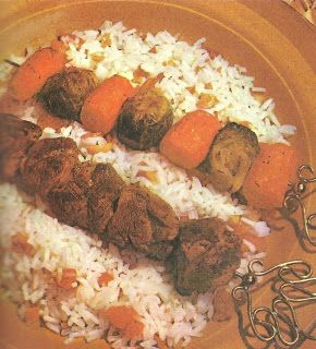 Blue Plate Lamb Kebabs (Family Circle Illustrated Library of Cooking, Volume 13, 1972)