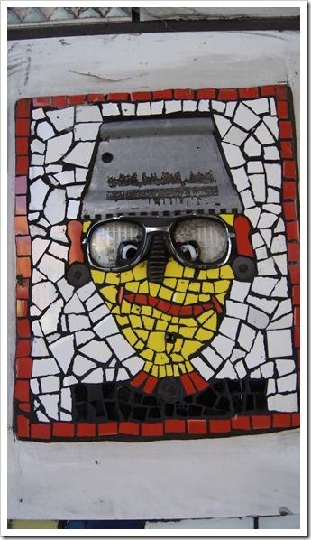 Crazy glasses mosaic.