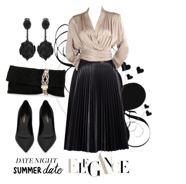 Summer Date Night by igiulia on Polyvore featuring Yves Saint Laurent, Cusp by Neiman Marcus, Jimmy Choo, Oscar de la Renta and summerdatenight