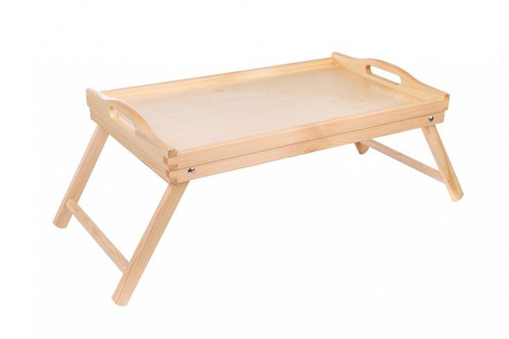 Dřevěný servírovací stolek do postele 50x30 cm