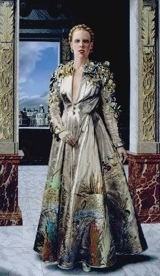 Painting by Carel Willink of Mathilde in a Fong Leng creation.