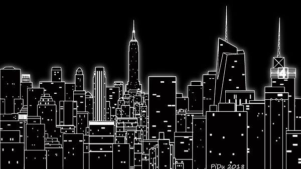 Big City Light Illustartion Art Artwork Artwall Wallart Wa Computer Wallpaper Desktop Wallpapers Minimalist Desktop Wallpaper Aesthetic Desktop Wallpaper Black asthetic computer wallpaper