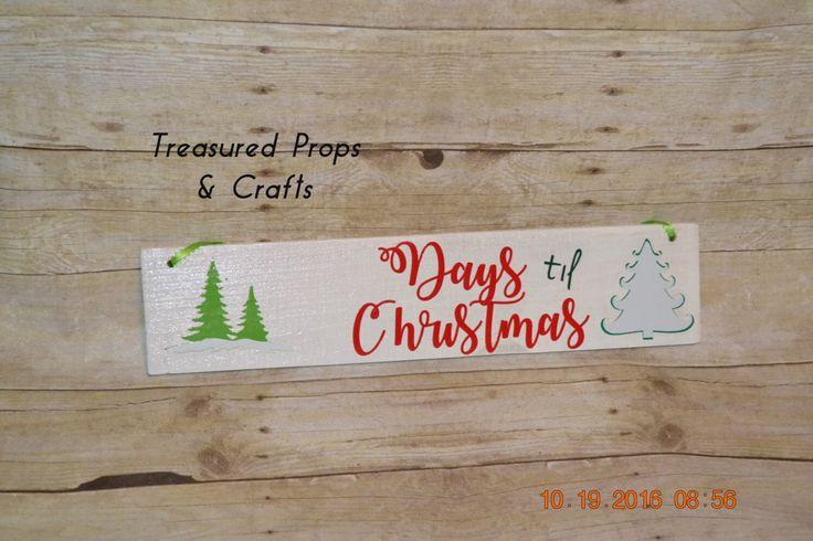 Countdown till Christmas, Countdown till Santa, Christmas decor, christmas by TreasuredPropsCrafts on Etsy https://www.etsy.com/listing/489072881/countdown-till-christmas-countdown-till