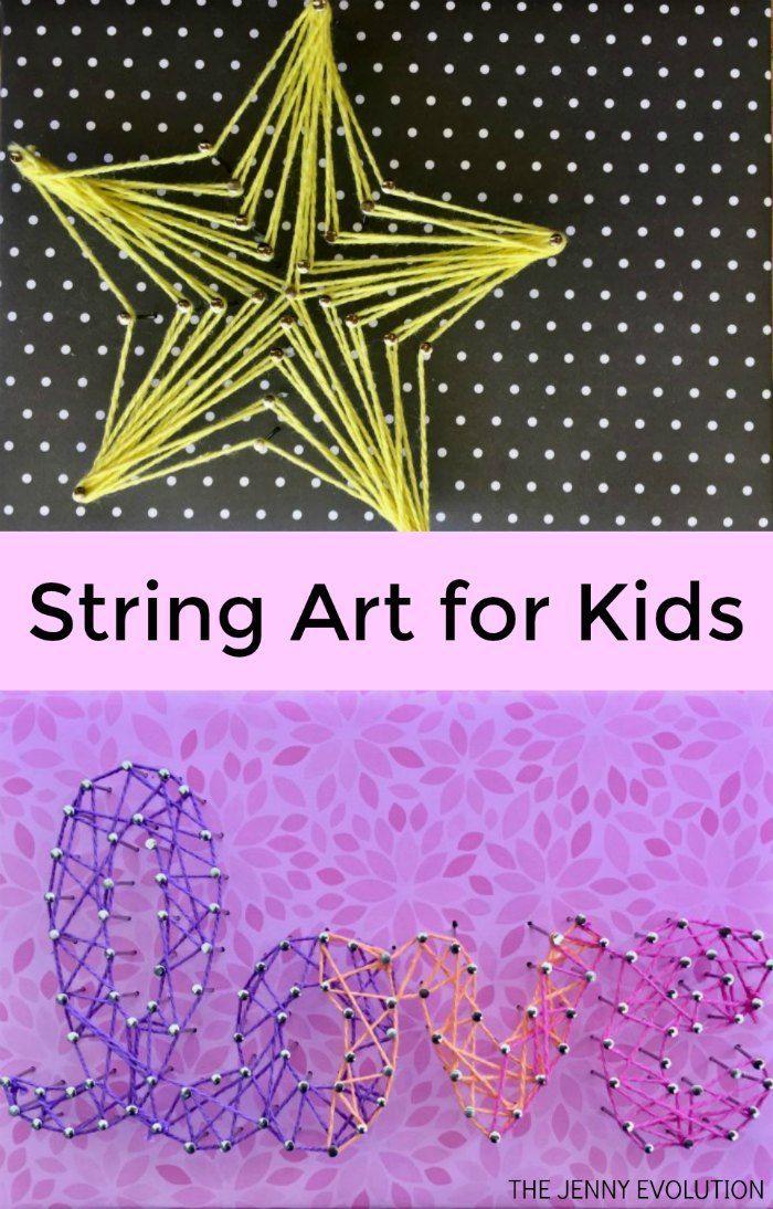 String Art for Kids - A fun fine motor art project for kids! | The Jenny Evolution
