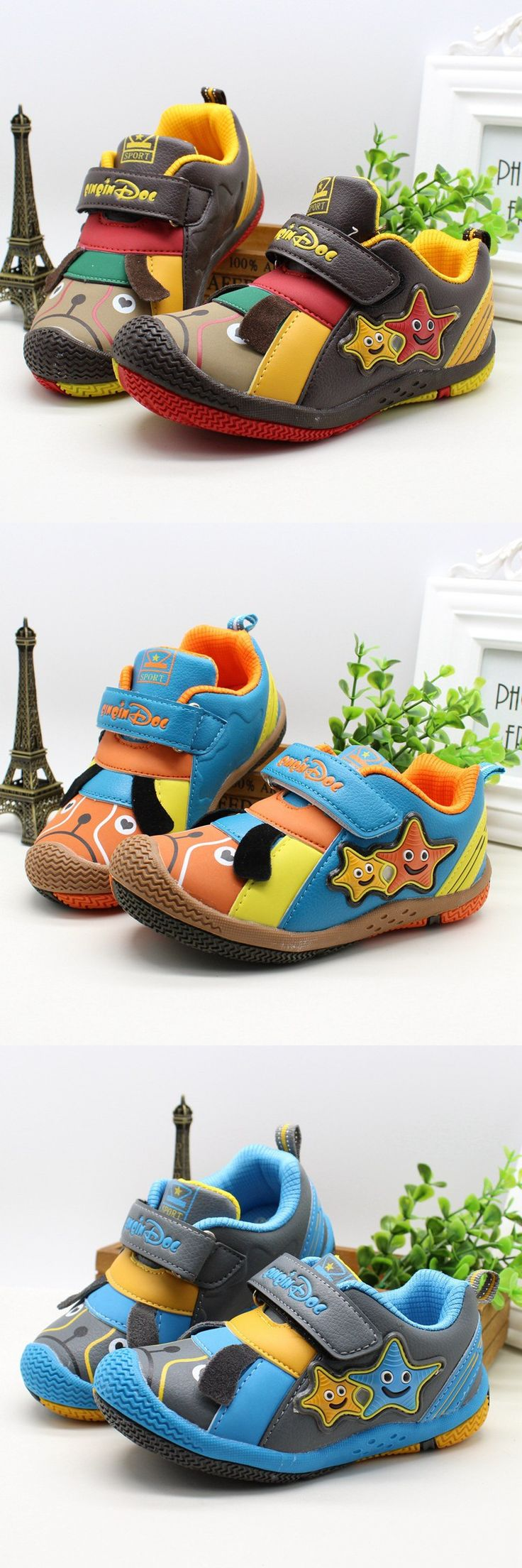 Free shipping new children sports shoes for boys comic cartoon stars kids shoes for boy leather 4 to 10 Ages boys running shoes