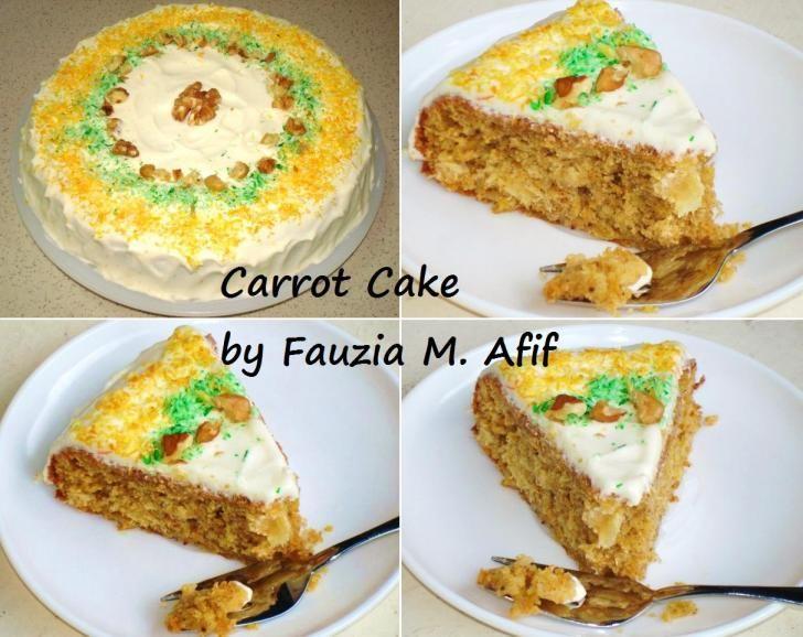 Carrot Cake | Fauzias Kitchen Fun