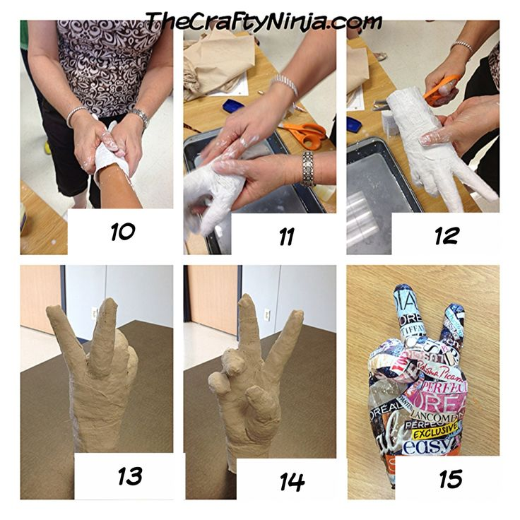diy plaster cast hands