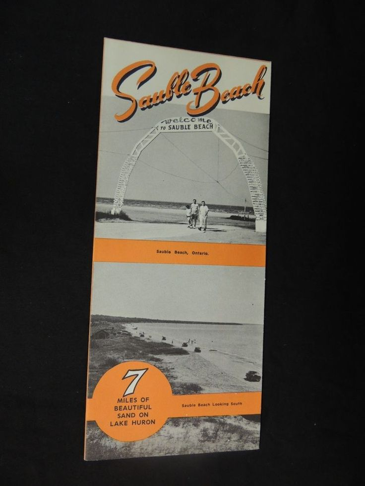 Vintage Sauble Beach Ontario Travel Brochure Canada 7 Miles Cruises Boating Fish