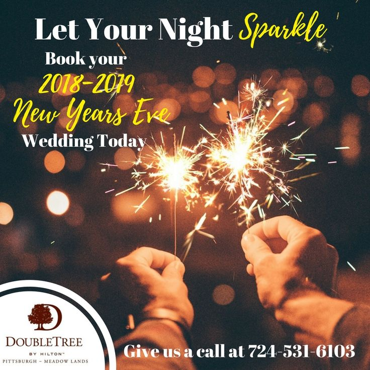 ✨ Let your wedding night SPARKLE. ✨ Book your 2018-2019 New Years Eve Wedding today by calling Dan at 724-531-6103!