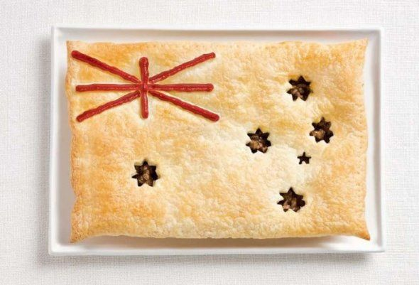 Australian flag in food.