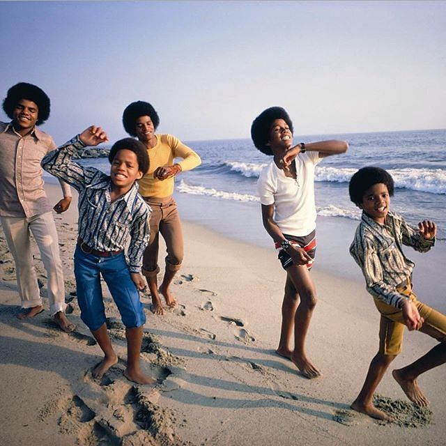 """""""The Jackson 5, 1969. Photograph by Lawrence Schiller."""