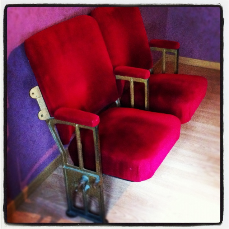 old cinema chairs from kapitool in ghent