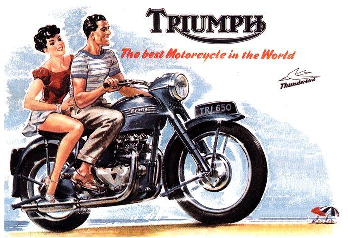 Vintage Triumph Motorcycles Ad