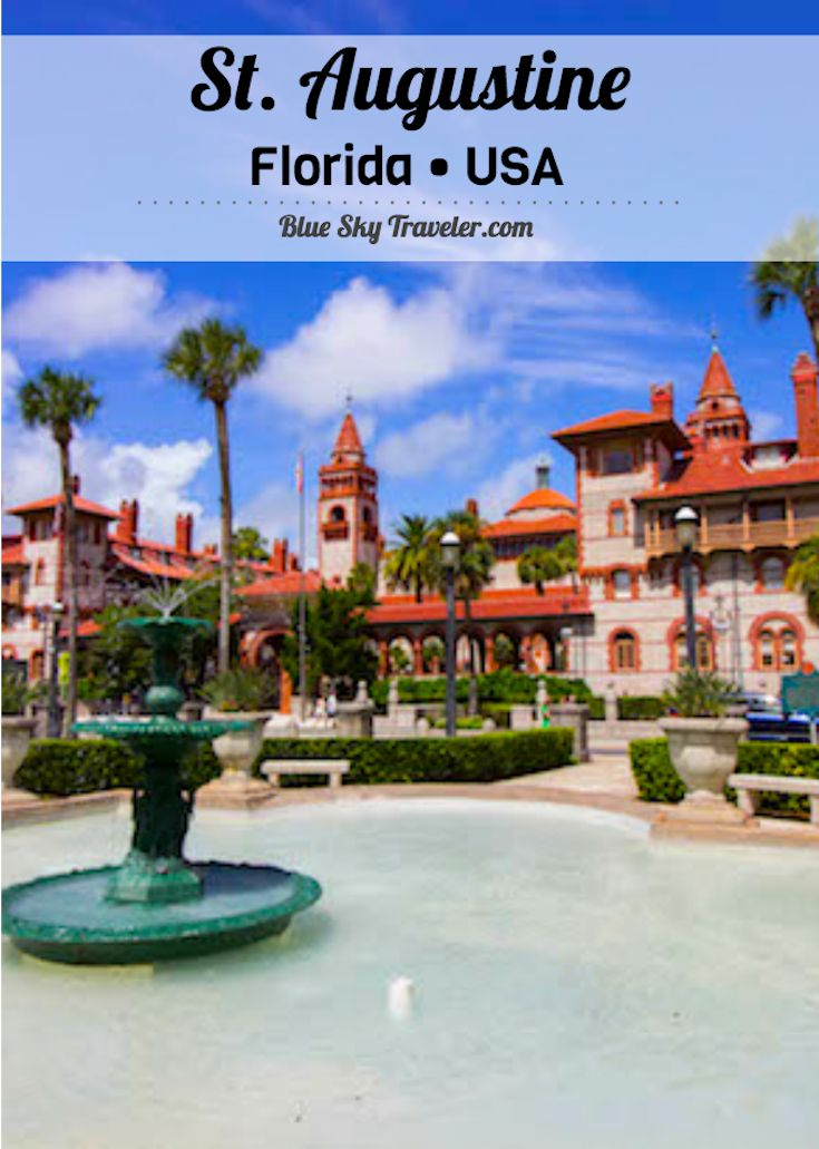 Take a weekend getaway to St. Augustine, Florida to explore history from Colonial days to the Gilded Age in first United States city on the East Coast. See more ->> http://www.blueskytraveler.com