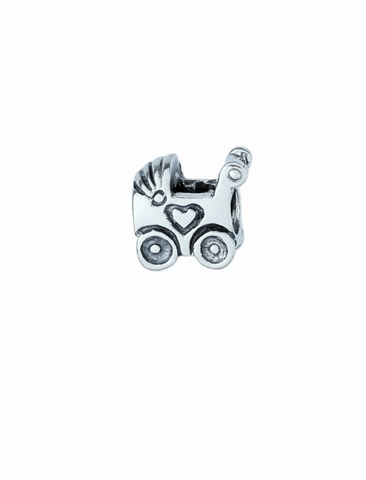 Amore & Baci baby carriage silver bead