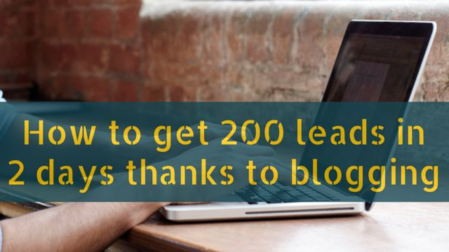 How to get 200 #leads in 2 days thanks to #blogging: http://brandonline.michaelkidzinski.ws/how-to-get-200-leads-in-2-days-thanks-to-blogging/ #internetmarketing #homebasedbusiness #onlinebusiness