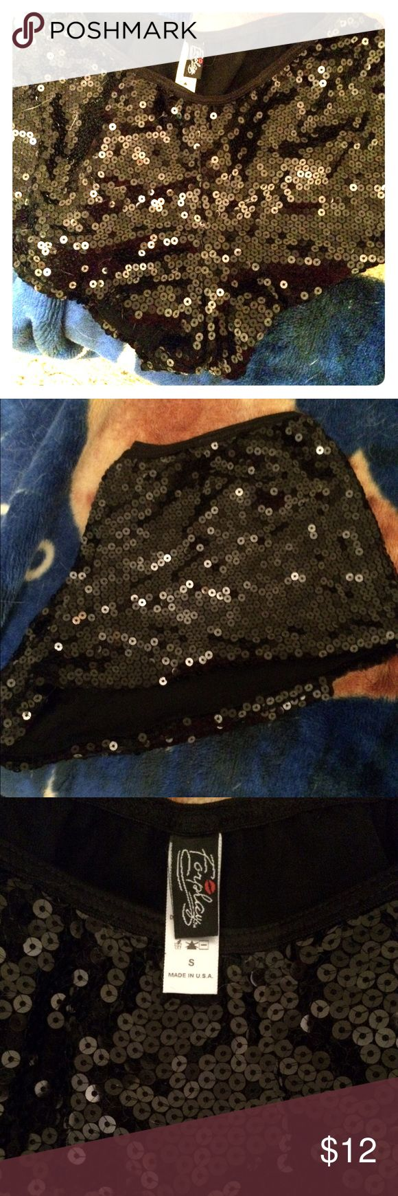 Sale!Just In NWOT Foreplay Sparkle Tap shorts Sexy Shiny tap shorts for dance or exercise, pretty beading, NWOT never worn ( perfect for pole dancing which is great exercise) Foreplay Shorts
