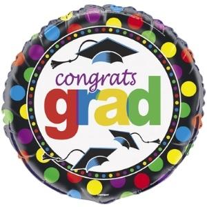 Grad Spark Mylar Balloon
